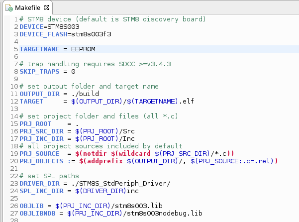Programming and debugging the STM8S microcontrollers using